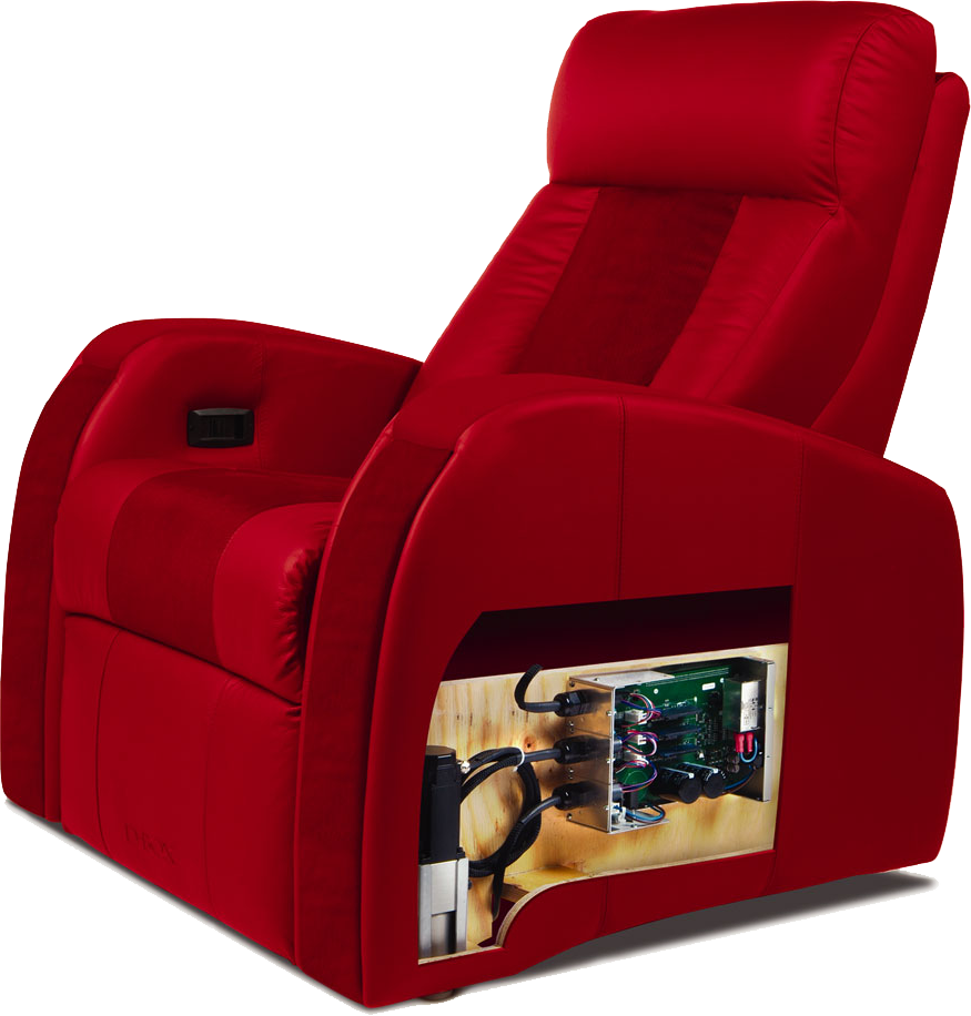 Dbox home theatre chair available at Calgary's top custom home theatre store - K&W Audio in downtown Calgary, Alberta.