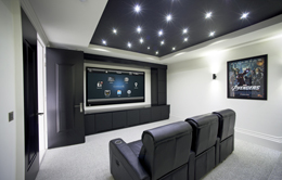 Home Theatre design in Calgary & Area by K&W Audio your custom home theatre specialists.